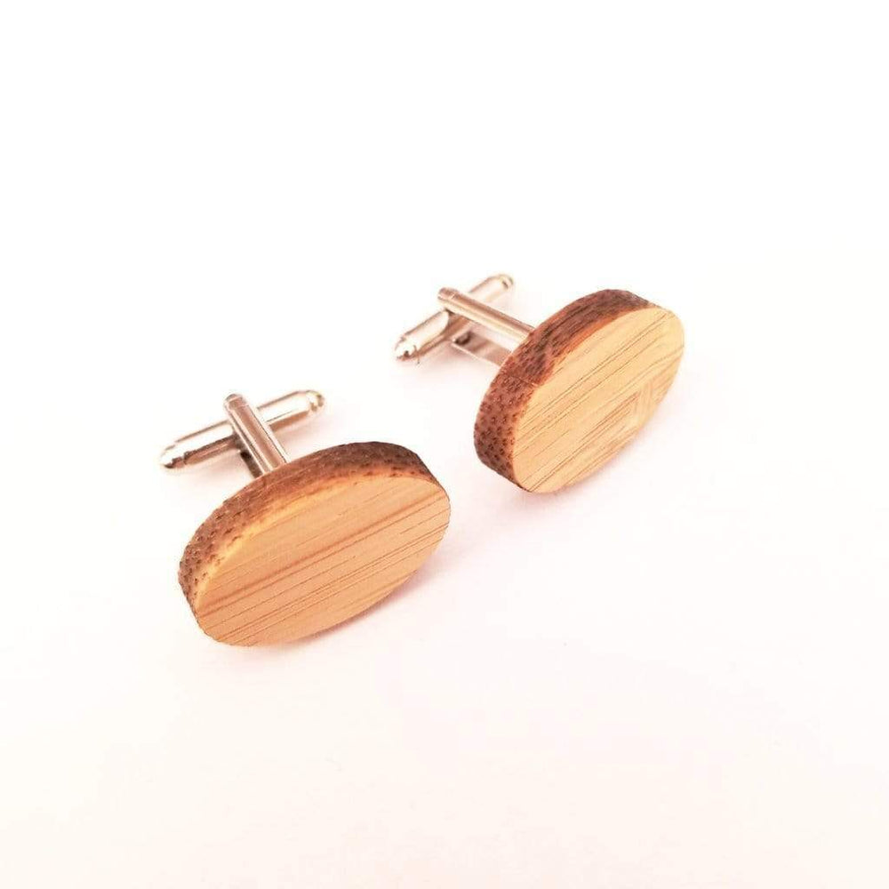 Angie Wood Creations wood cufflink Oval cufflink Angie Wood Creations Cufflinks Maple wood ,engrave cufflinks,Wood cufflinks (cl27-30)
