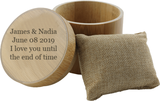 Angie Wood Creations Bamboo box Personalized Bamboo Box,Wedding Box,Engrave bamboo box for watch,Engrave Watch box