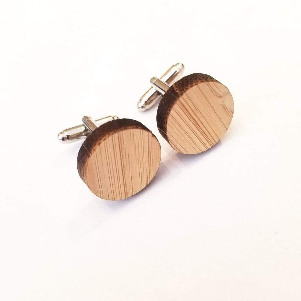 Angie Wood Creations wood cufflink Round cufflink Angie Wood Creations Cufflinks Maple wood ,engrave cufflinks,Wood cufflinks (cl27-30)