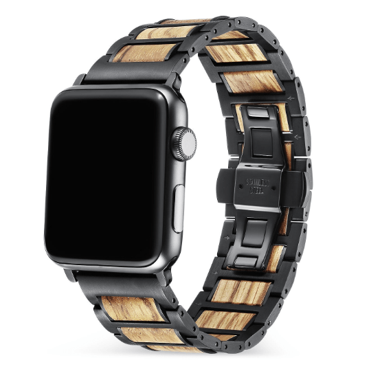 Angie Wood Creations Stainless Apple Watch Wood Band,Natural Wooden Apple Watch Strap Apple Watch Series,I watch wood band,Apple watch bracelet,i watch