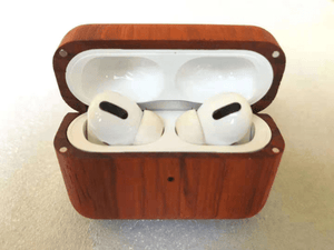 Angie Wood Creations Wood Airpod Case 3, Custom Airpod Case With Metal Hook Keychain, Apple Airpods Pro Case, Airpod Holder, AirPod Sticker, Christmas Gifts
