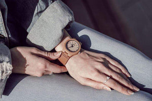 angiewoodcreations Wood watch 1 pcs Men watch Couple Leather wood watch watch,Men wood watch Engraved Bamboo Couple Watch With Brown Leather Strap,Women Wood Watch (W087)