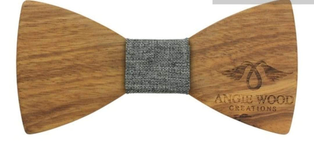 Angiewoodcreations Wooden bow tie 100% Natural Eco-friendly handmade Wooden Bow Tie