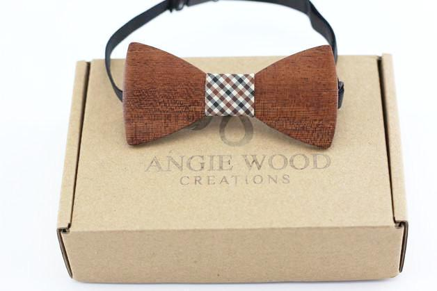 KIDS Bow Tie 100% Natural Eco-friendly handmade Wooden