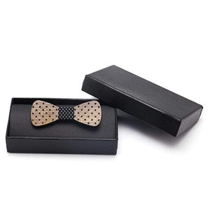 Angiewoodcreations Wooden bow tie Adult Bow Tie 100% Natural Eco-friendly handmade Wooden