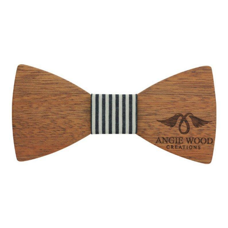 Angiewoodcreations Wooden bow tie Adult Size Engraved Adult Size Red Sandalwood Butterfly Bowtie with Black and White Striped Centerpiece (B0219),Wood Bowtie,Bowtie,Men bowtie,Wood Tie