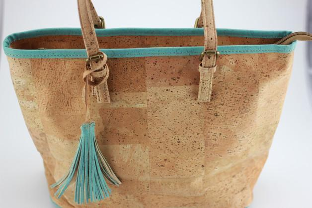 Angie Wood Cork bag, Vegan bag,Non leather bag