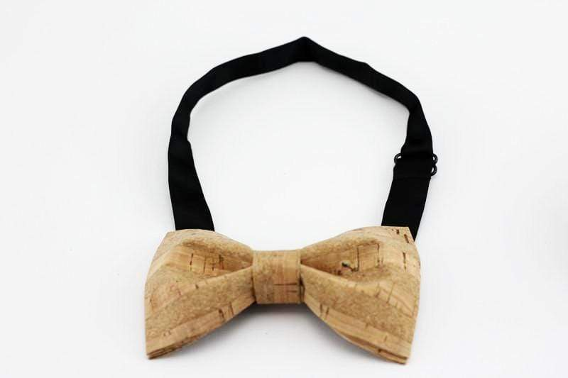 Angiewoodcreations Wooden bow tie Cork Bowtie Angie 3