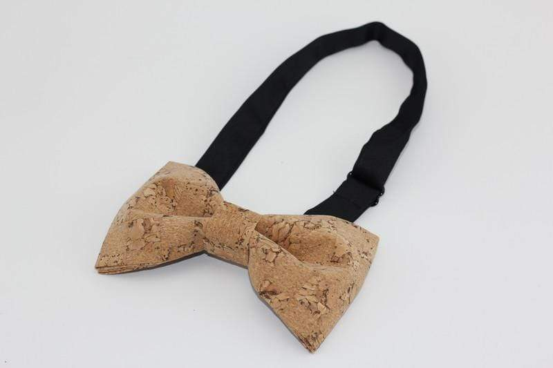 Angiewoodcreations Wooden bow tie Cork Bowtie Angie 5