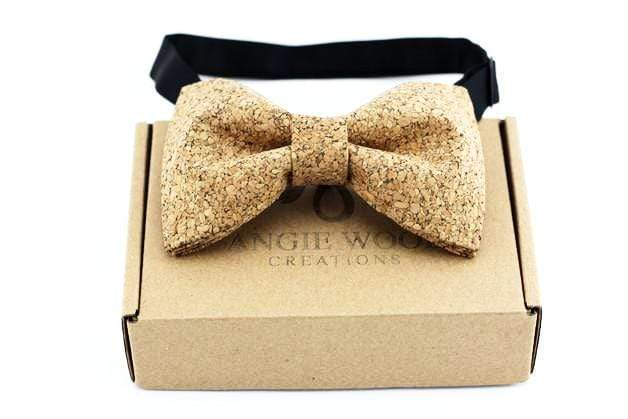 Angiewoodcreations Wooden bow tie Cork Bowtie Angie 6