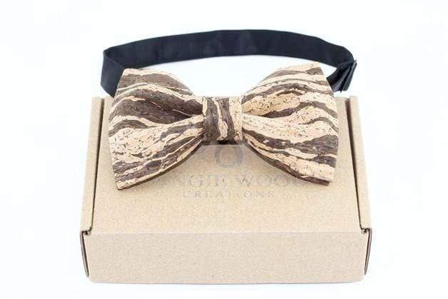Angiewoodcreations Wooden bow tie Cork Bowtie Angie