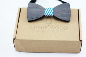 Angiewoodcreations kids wooden bowtie KIDS Bow Tie 100% Natural Eco-friendly handmade Wooden
