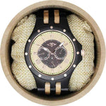 Angie Wood Creations Ebony Men's Watch with Ebony and Maple Bracelet