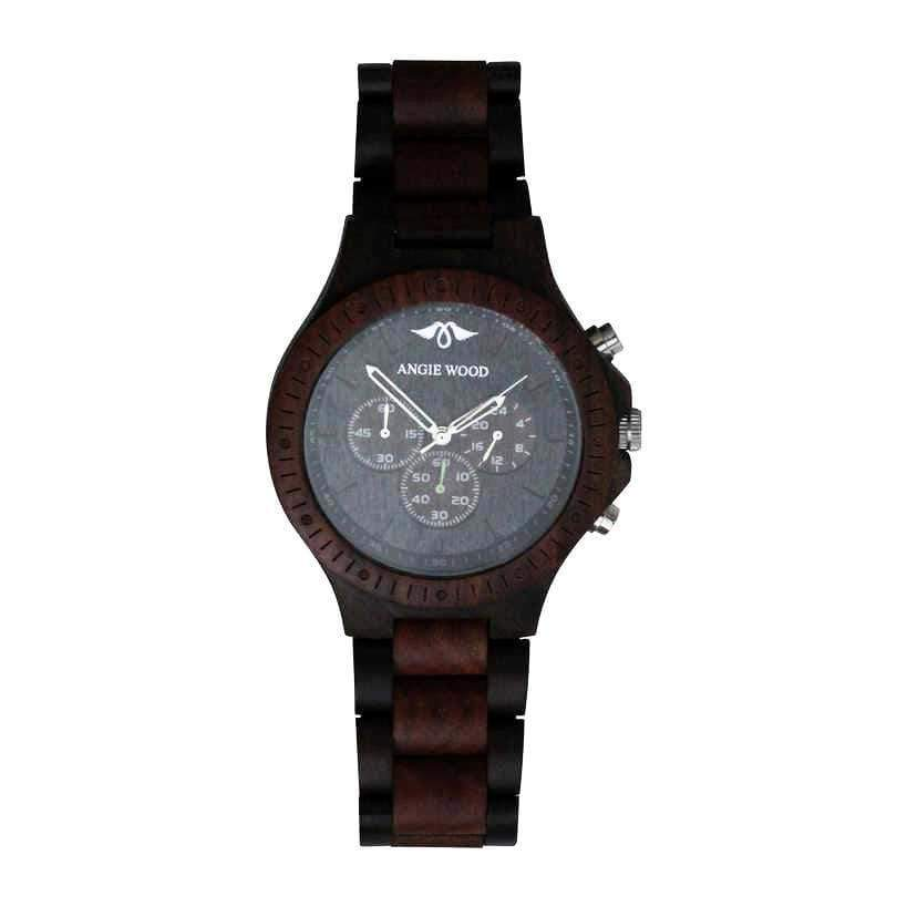 angiewoodcreations Wood watch No custom engraving on box Angie Wood Creations Dark Sandalwood and Red Sandalwood Men's Watch