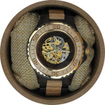 Angie Wood Creations Dark Sandalwood Men's Automatic Watch With Maple Finish