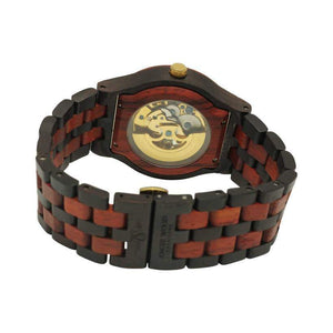 angiewoodcreations Wood watch No custom engraving on box Angie Wood Creations Ebony Men's Self-Winding Watch With Gold Dial