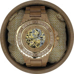 Angie Wood Creations Maple Wood Automatic Men's Watch With Maple Wood Bracelet