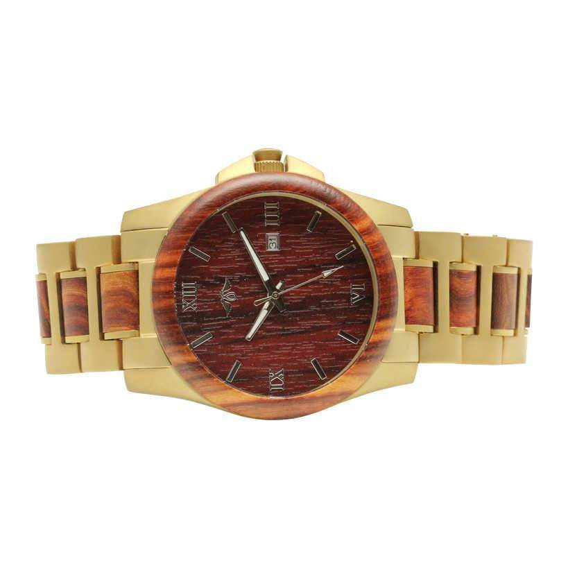 angiewoodcreations Wood watch No custom engraving on box Angie Wood Creations Red Sandalwood and Stainless Steel Men's Watch