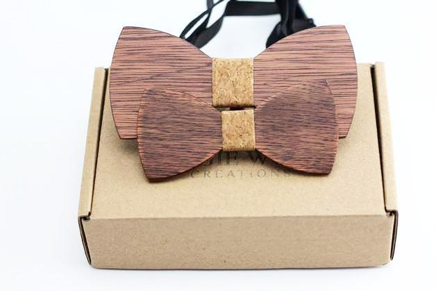 CORK 100% Natural Eco-friendly FAMILY & KIDS handmade Wooden Bow Tie