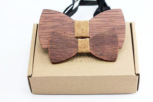 Angiewoodcreations Wooden bow tie Not engrave CORK 100% Natural Eco-friendly FAMILY & KIDS handmade Wooden Bow Tie