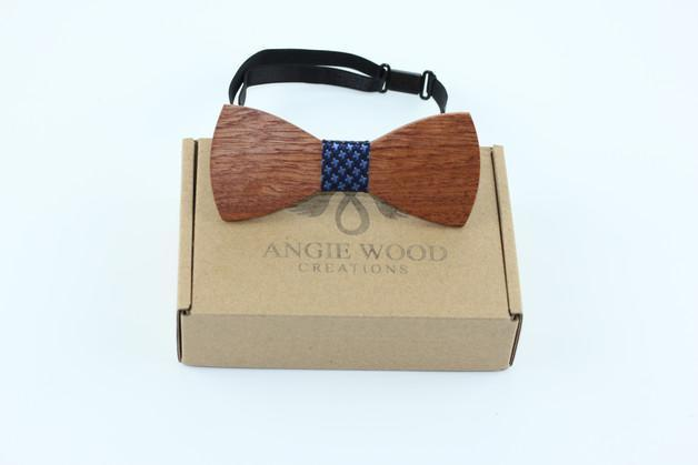 Angiewoodcreations Wooden bow tie Not Engrave on bowtie 100% Natural Eco-friendly handmade Wooden Bow Tie