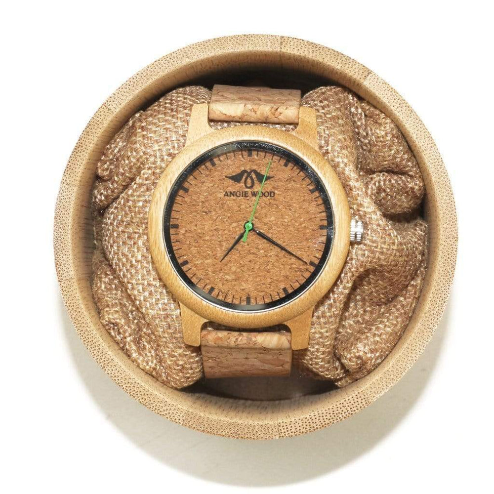 Angiewoodcreations Wood watch Angie Wood Cork Wood Watch,Personalized watch,Cork watch W158