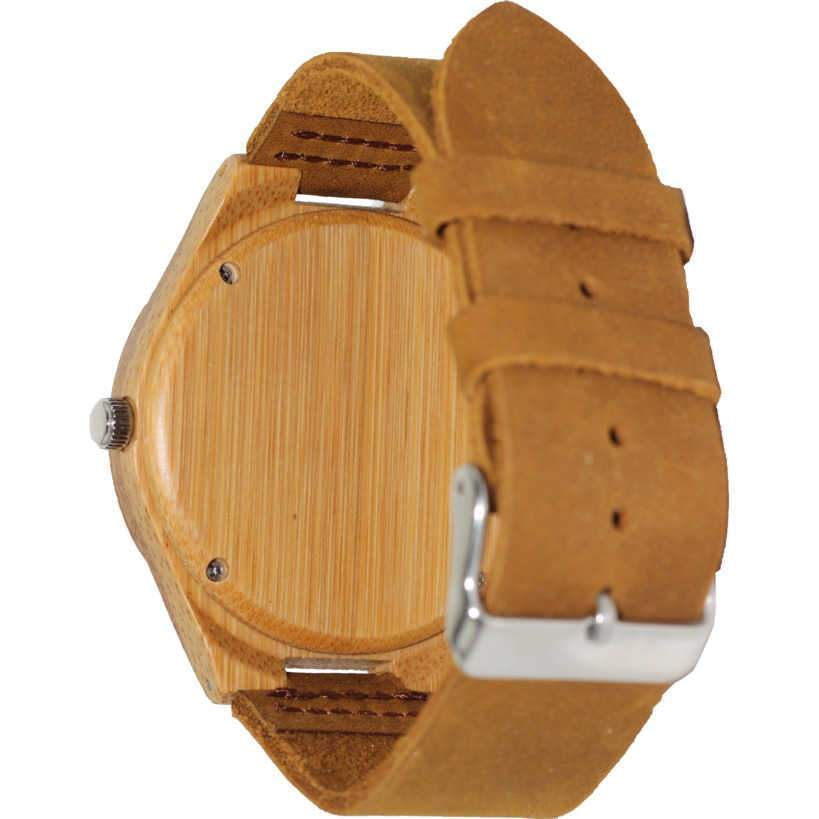 Angiewoodcreations Wood watch Not engraved Angie Wood Creations Bamboo Men's Watch With Bamboo Dial and Aztec Design