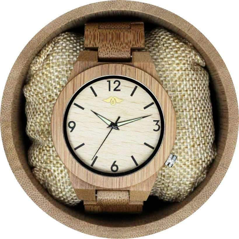 Angie Wood Creations Bamboo Men's Watch with Pale Bamboo Dial