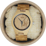 Angie Wood Creations Bamboo Women's Watch With Bamboo Bracelet and Deer Image