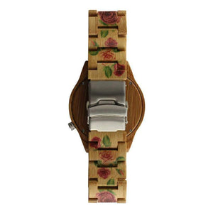 Angiewoodcreations Woman Wooden watch Not engraved Angie Wood Creations Bamboo Women's Watch With Handpainted Flowers