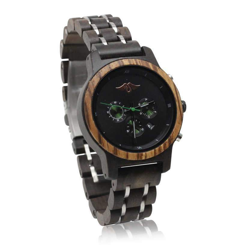 Angiewoodcreations Woman Wooden watch Not  engraved Angie Wood Creations Dark Sandalwood and Stainless Steel Women's Watch