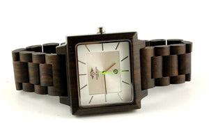 angiewoodcreations Wood watch Not engraved Angie Wood Creations Dark Sandalwood Men's Square Watch With Silver Dial