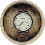 Angie Wood Creations Dark Sandalwood Men's Watch With Bamboo Dial