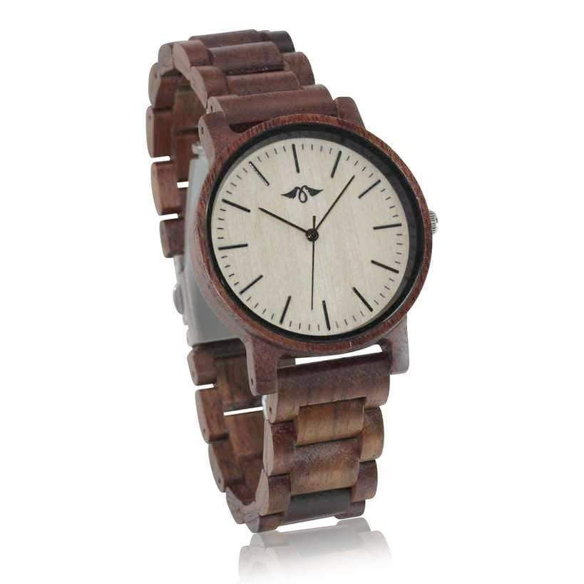 angiewoodcreations Wood watch Not engraved Angie Wood Creations Dark Sandalwood Men's Watch With Bamboo Dial