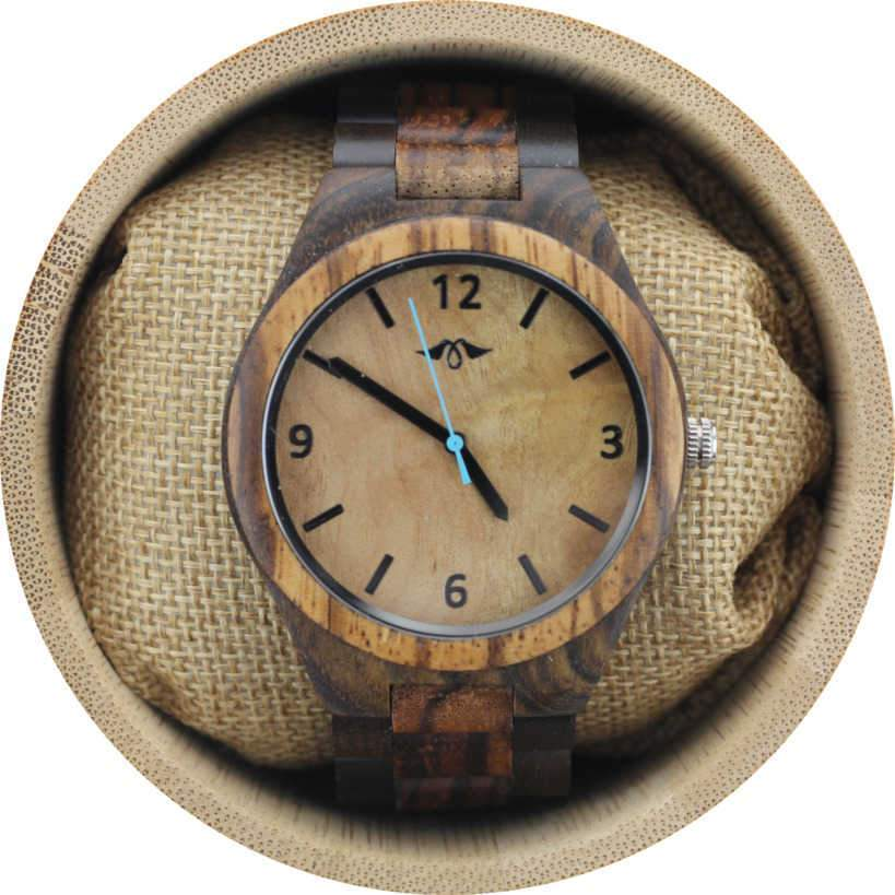 Angie Wood Creations Dark Sandalwood Men's Watch with Maple Dial