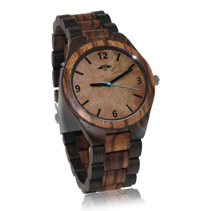 angiewoodcreations Wood watch Not engraved Angie Wood Creations Dark Sandalwood Men's Watch with Maple Dial