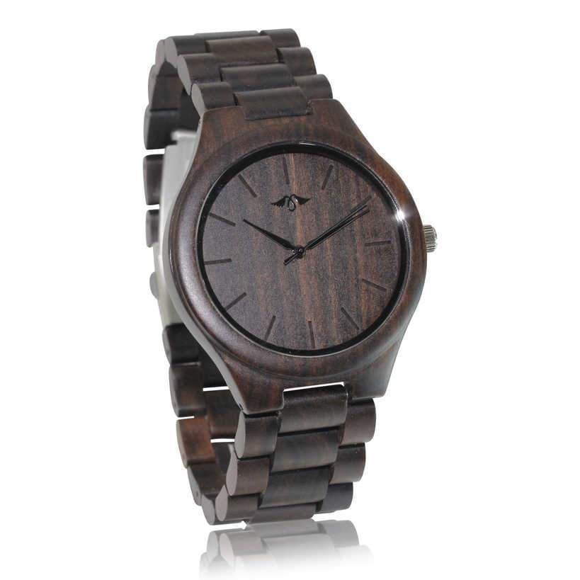 angiewoodcreations Wood watch Not engraved Angie Wood Creations Dark Sandalwood Men's Watch With Matching Bracelet