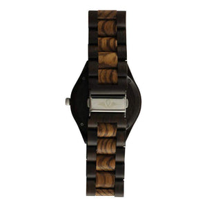 angiewoodcreations Wood watch Not engraved Angie Wood Creations Dark Sandalwood Men's Watch With Zebrawood Bezel and Dial