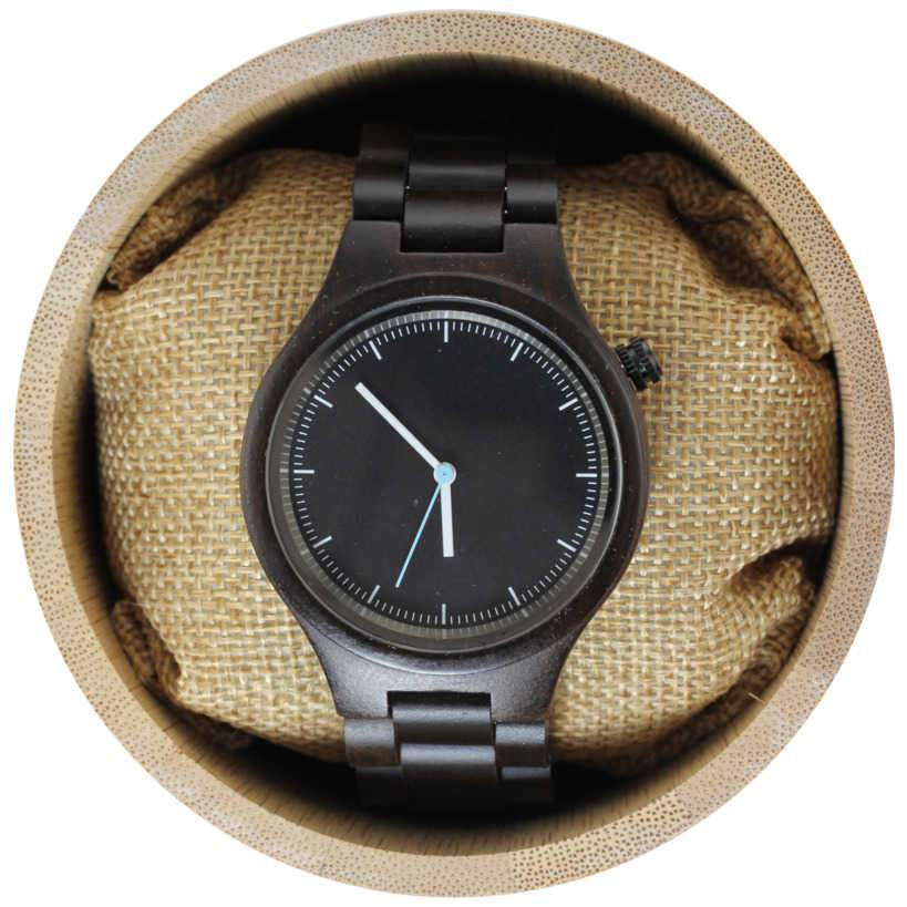 Angie Wood Creations Dark Sandalwood Unisex Watch with Matching Bracelet