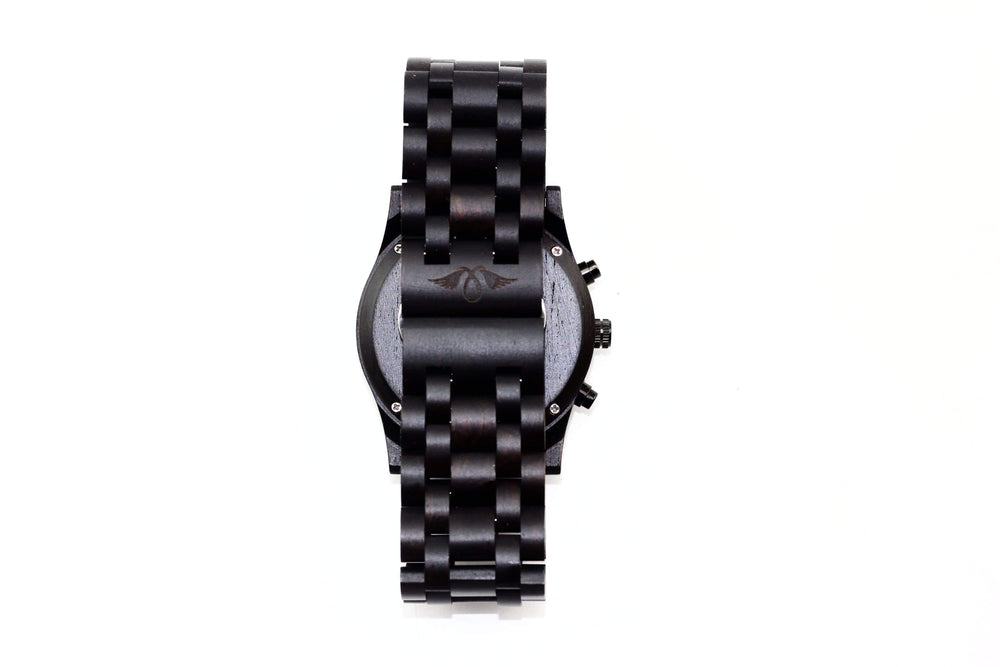 angiewoodcreations Wood watch Not engraved Angie Wood Creations Ebony Men's Automatic Watch With Ebony Dial