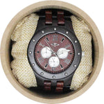 Angie Wood Creations Ebony Men's Watch With Ebony and Red Sandalwood Bracelet