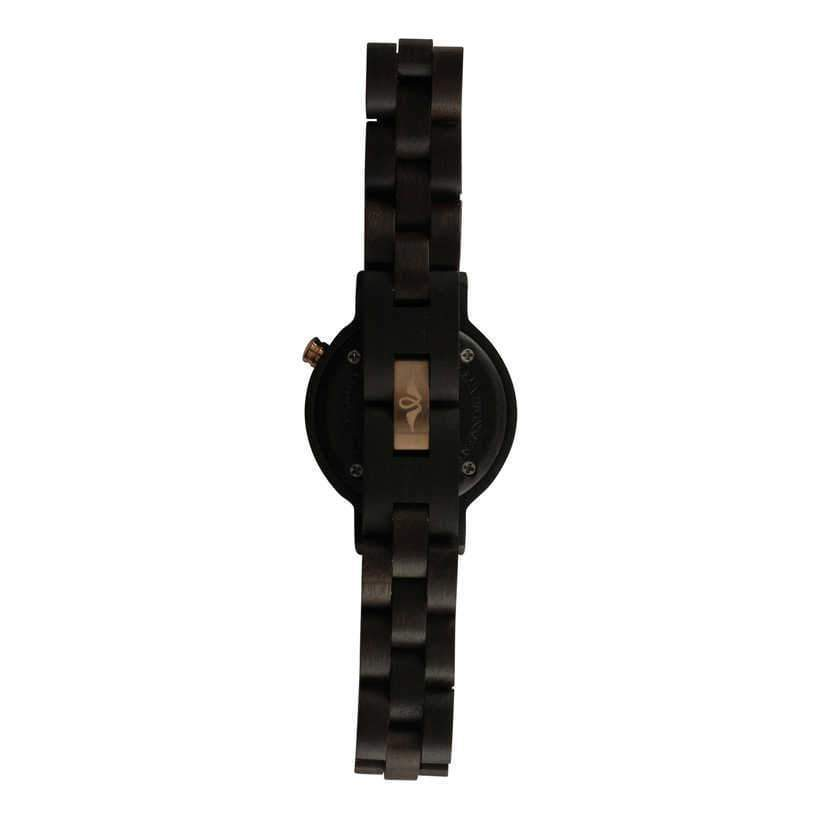 Angiewoodcreations Woman Wooden watch Not engraved Angie Wood Creations Ebony Women's Watch With Ebony Bracelet and Dial