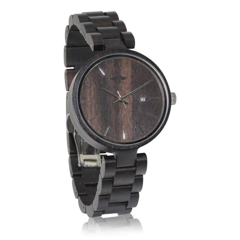 angiewoodcreations Woman Wooden watch Not engraved Angie Wood Creations Ebony Women's Watch with Ebony Dial and Band