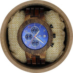 Angie Wood Creations Koa wood and Stainless Steel Men's Watch
