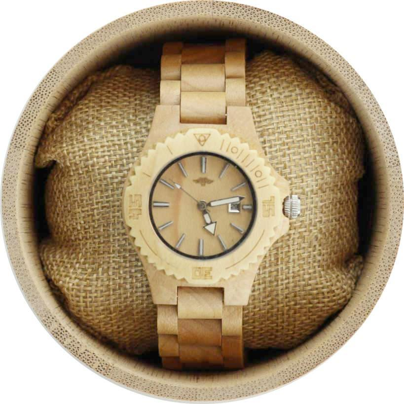 Angiewoodcreations Woman Wooden watch Angie Wood Creations Maple Women's Watch With Maple Bracelet and Dial