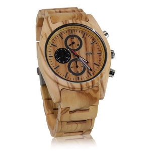 angiewoodcreations Wood watch Not engraved Angie Wood Creations Maple Wood Men's Watch with Maple Wood Bracelet