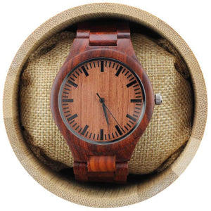 angiewoodcreations Wood watch Not engraved Angie Wood Creations Red Sandalwood Men's Watch With Red Sandalwood Band