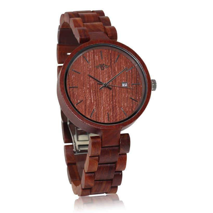 angiewoodcreations Wood watch Not engraved Angie Wood Creations Red Sandalwood Women's Watch With Red Sandalwood Bracelet
