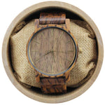 Angie Wood Creations Zebrawood Men's Watch with Gold Hands and Zebrawood Dial