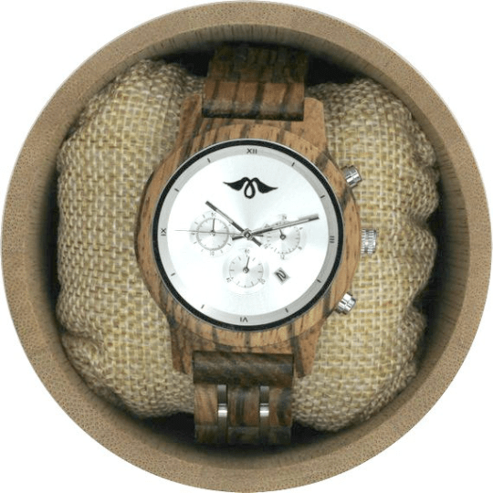 Angiewoodcreations Woman Wooden watch Not engraved Angie Wood Creations Zebrawood Women's Watch With Stainless Steel Dial